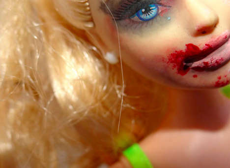 Bruised Doll Art Projects - Samantha Humphreys' Barbie Doll Art Series Addresses Adult Topics