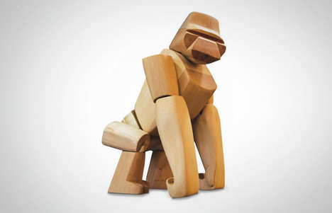 Great Ape Wooden Toys - The Hanno the Gorilla Toy is Expertly Crafted