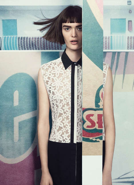 Cleanly Collaged Editorials - The British Vogue