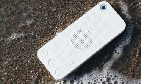 Wireless Waterproof Handset Speakers - The SQueo is a New Water Resistant Bluetooth Speakerphone