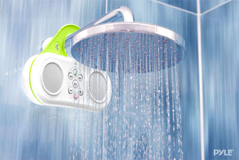 Integrated Shower Sound Systems - The Gator Sound is a Bathroom Speaker That Lets You Make Calls