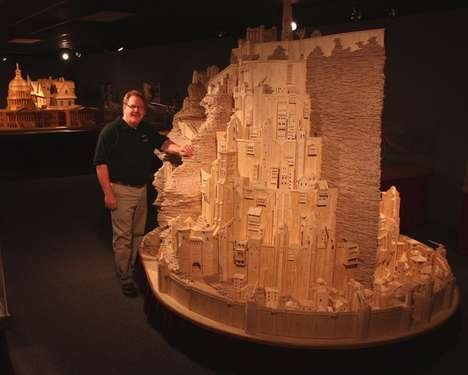 Matchstick-Made Cities - Minas Tirith by Pat Acton is an Incredible