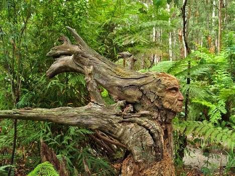 Fantastical Forest Figures - Artist Bruno Torfs Creates an Enchanting Sculpture Garden