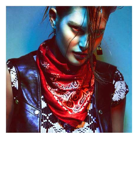 Darkly Punk Editorials - The Numero March 2014 Photoshoot Stars Catherine McNeil