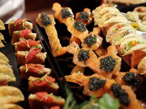 Gold-Infused Finger Foods - Wolfgang Puck Creates a Menu of Fine Oscar Treats with Edible Gold Dust