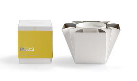 Unexpected Blossoming Boxes - Heal's Candle Packaging Unfolds Like the Petals of a Flower