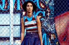 Geometric Graffiti Editorials - Craig McDean Shot for Vogue US