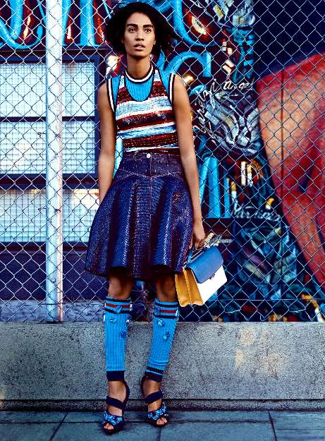 Geometric Graffiti Editorials - Craig McDean Shot for Vogue US March 2014