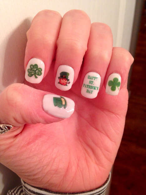 Festively Green Nail Decals - Show Your Support for the Irish Holiday with St. Patrick