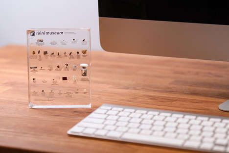 Artifact-Embedded Decor - The Mini Museum Encases Fascinating Specimens to Enrich Your Desk