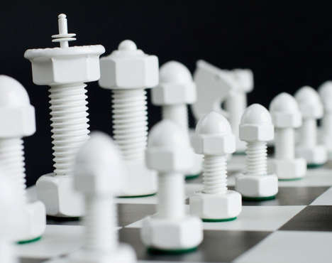 Blue Collar Chess Sets - The Tool Chess is Rugged Yet Gorgeous
