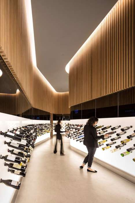 Expansive Glossy Wine Displays - The Mistral Wine & Champagne Bar is Every Enophile