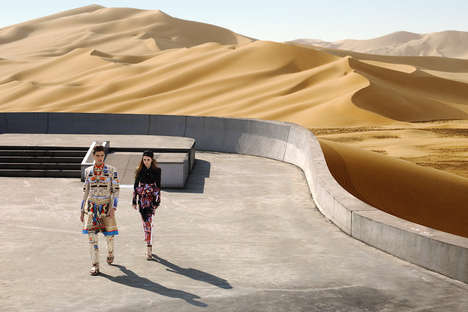 Sand Dune Editorials - The Givenchy Spring-Summer 2014 Photoshoot Takes Place in the Sahara Desert