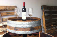 Reworked Barrel Wine Racks - This Wine Rack Reuses Old Wooden Barrels for Its Design