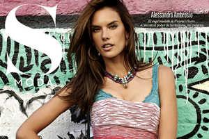 Alessandra Ambrosio Poses for S Moda February 2014