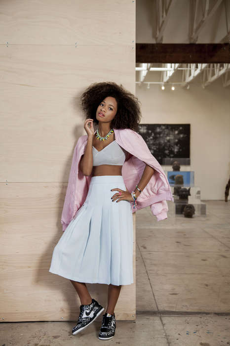 Pastel Sneaker-Paired Collections - Artist Kilo Kish Rocks the Lust, Covet, Desire Look