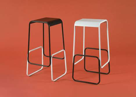 Seemingly Stacked Seating - The Illusory Profilini Bar Stool Looks Like it