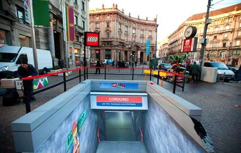 LEGO Subway Stations - This LEGO Subway Station in Milan was Replicated for Promotion