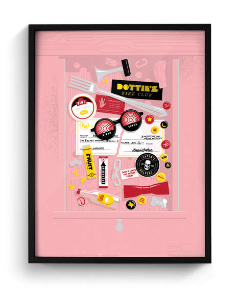 Junk Drawer Illustration Prints - These New Pop Culture Prints are Fun and Kitschy