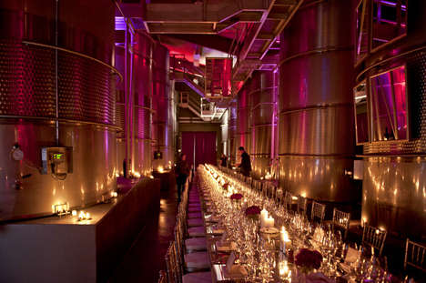 Lavish Crystalline Wine Cellars - The Crystal Cellar Brings All the Luxury High Class Win Demands