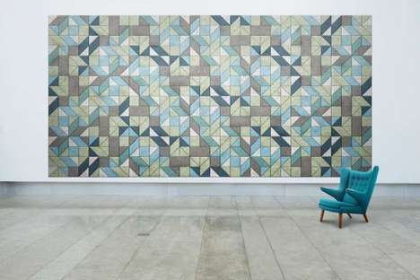 Artistic Acoustic Installations - The BAUX Traullit Tiles Enable Unique and Creative Soundproofing