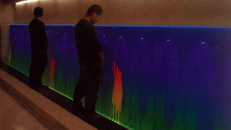 Colorful Thermal Urinals - This Interactive Urinal Lets Men Get Creative While Relieving Themselves
