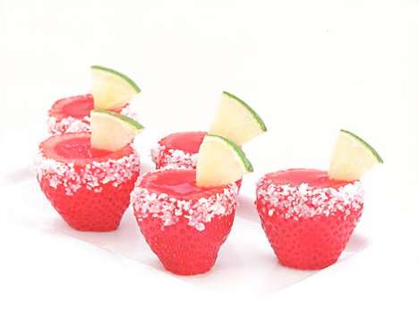 Booze-Infused Fruit Shooters - The DIY Strawberry Margarita Jello Shooters are Fun and Easy