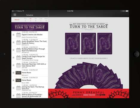 Activity Focused Tarot Cards - Digital Tarot Cards will Appear in the South by Southwest App