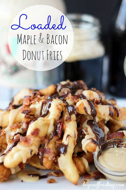 Poutine-Like Donut Fries - These Loaded Maple Bacon Donut Fries Look Like Flavor Paradise