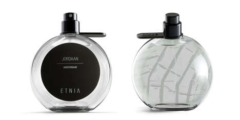 Map-Embedded Bottles - Etnia Fragrances Packaging Features the Blueprint of Each Aromatic Metropolis