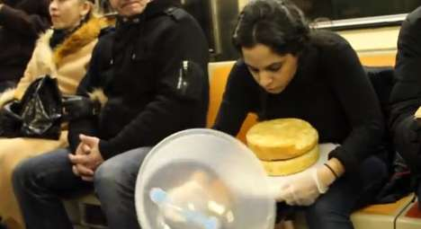 Cake Frosting Subway Art - Bettina Banayan is a Culinary Art Student Who Frosts Cakes for Strangers