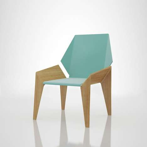 Origami-Like Seated Furniture - These Origami Chairs are Brightly Colored and Can be Stacked