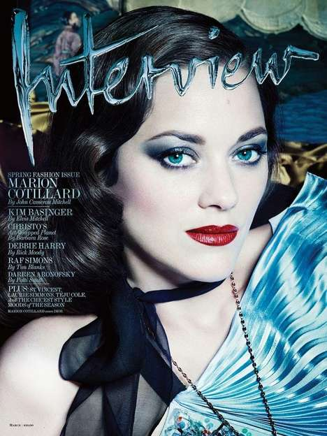 Film Noir Fashion Shoots - The Marion Cotillard Cover for Interview Magazine is Dark and Sultry