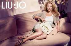 Lazy Lounging Supermodel Lookbooks - The Liu Jo Spring 2014 Campaign Stars the Stunning Kate Moss