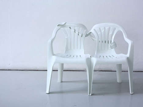 Anthropomorphic Monobloc Chairs - Bert Loeschner is Adding Life to the Classic Monobloc Chair