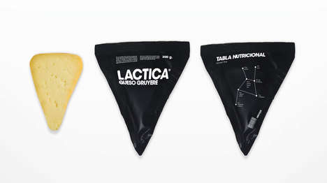 Celestial Cheese Branding - Lactica Dairy Packaging Assumes a Milky-Way-Inspired Identity