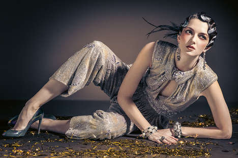 Metallic Vintage Fashion - Retro Revival by Ron Contarsy and Seth Karecha Stars Ines Crnokrak