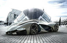 Sweeping Hyper Cars - LaMaserati by Mark Hostler is Modelled After the LaFerrari Platform
