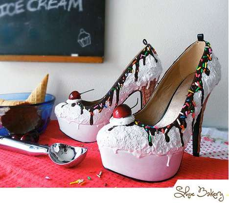 Pastry-Inspired Footwear - The Shoe Bakery Creates Delicious Wearable Designs