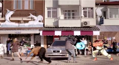 Street Brawling Insurance Ads - A Turkish Insurance Company Makes a Street Fighter Commercial