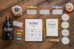 The Freehouse's Contemporary Brand Identity Gets It Just Right