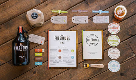 Vibrant Vintage Brewpub Branding - The Freehouse