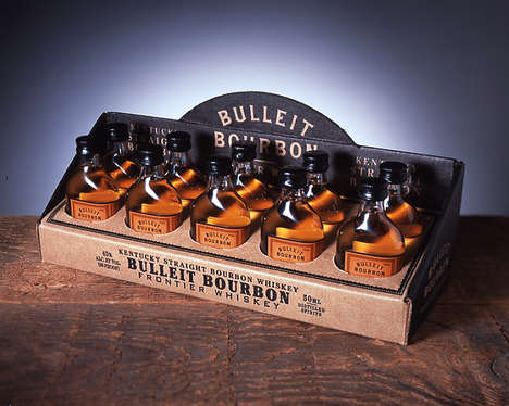 Vintage Aged Whiskey Displays - Bulleit Bourbon Whiskey Gets an Old West Makeover