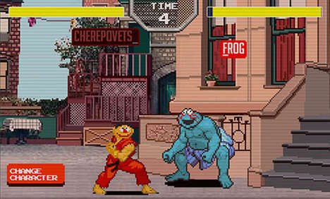 Brawling Muppet-Typing Games - The Sesame Street Fighter Game Will Help You Type Faster