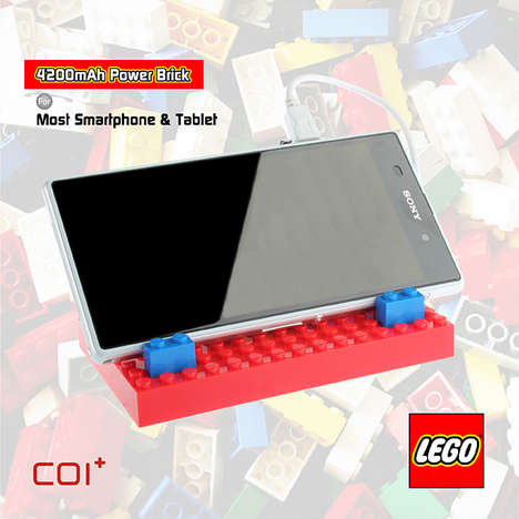 Creativity-Enhancing LEGO Chargers - The COI+ LEGO Power Brick 4200mAh is a Taste of Childhood