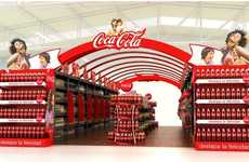 This Coca-Cola Display Brings the Smiles with Rainbow