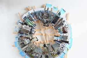 These Wooden Dioramas Depicts Aerial Views of Tall City Buildings