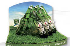 Rugby-Inspired Drink Displays - This Heineken Display Uses Sports as a Reference Point