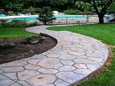 Rustic Concrete Cobblestone Molds - The Walk Maker Mold Lets You Create the Perfect Cobblestone Path