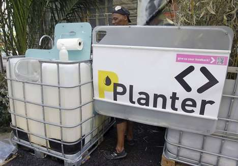 Plant Fertilizing Public Urinals - These Public Urinals Turn Urine Into Fertilizer for Plants